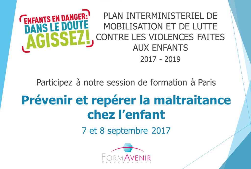 """Plan interministériel """"Violences faites aux enfants"""" : une formation pour y répondre"""